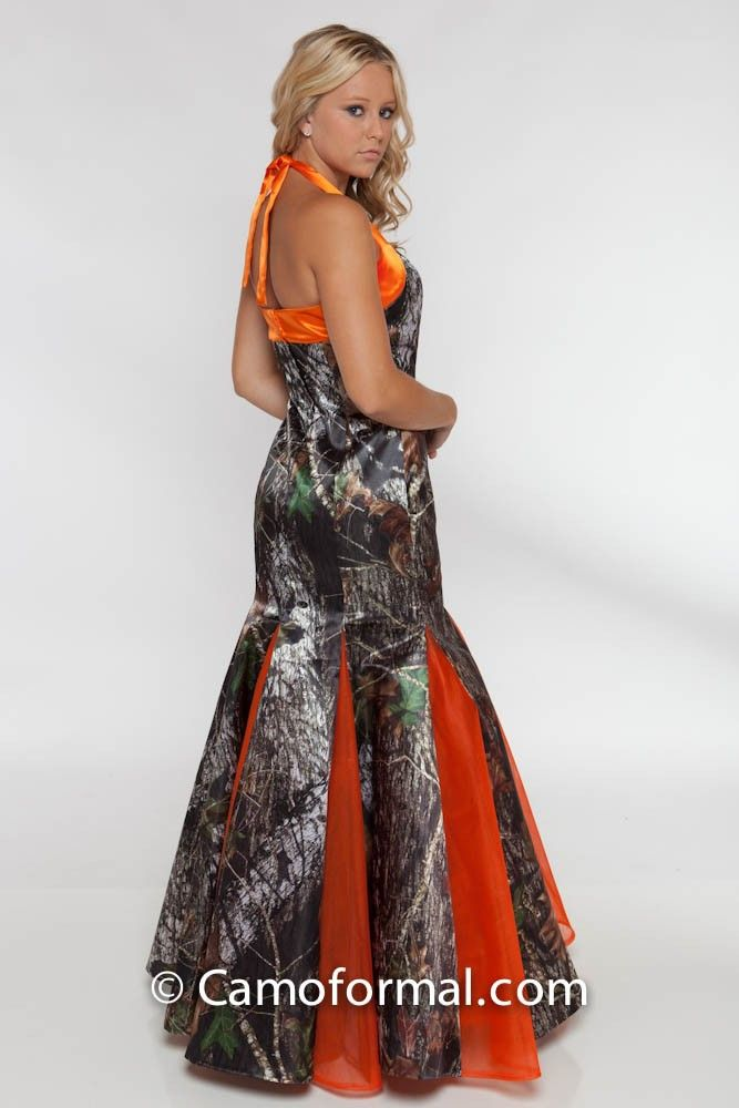 193 best images about kaitlyns prom dress on pinterest for Orange and camo wedding dress