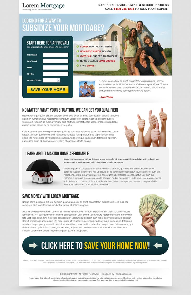 subsidized your mortgage most converting mortgage landing page design template