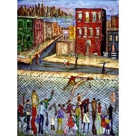 ''The Other Side'' by David Dinkins African American Art Print