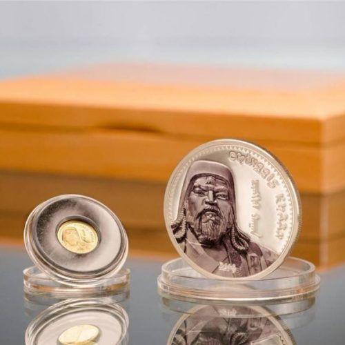 Chinggis Khaan (Chingiz Khan) – 1000 Togrog – 2014 – Mongolia – set of gold and silver coins