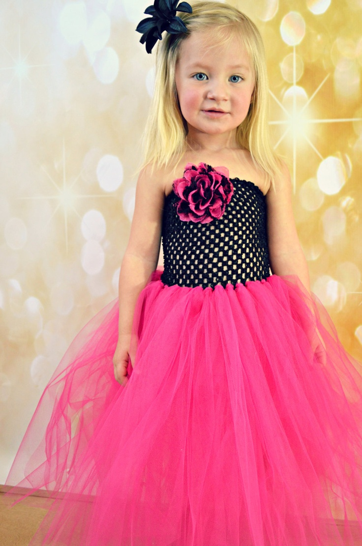 Newborn Size 8 Black And Hot Pink Lace Tutu Dress 35 00 Via Etsy Krystal S Adorable