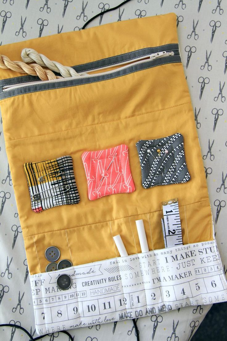 Free tutorial from Art Gallery Fabrics to make this fabric pouch.