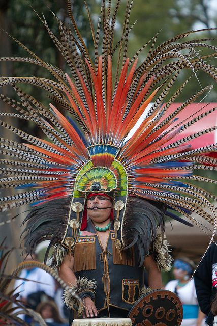 Aztec Drummer, Native American Pow Wow, Stanford University.  Photo: niftyken, via Flickr