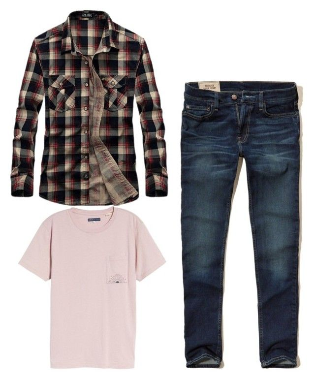 """""""Look bbq 2"""" by angelaguirrem on Polyvore featuring Hollister Co., Levi's Made & Crafted, men's fashion y menswear"""