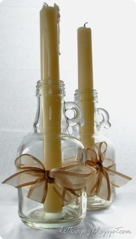 460 best images about candles on pinterest christmas for Homemade candle holders