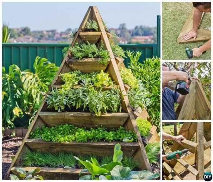 DIY Vertical Pyramid Tower Garden Planter