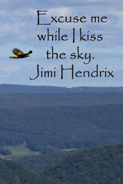 Excuse me while I kiss the sky. by Jimi Hendrix @ Like Success