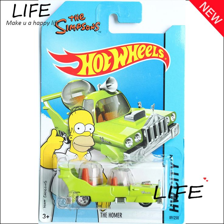 Hot Sale Hot Wheels Simpsons The Homer Green Cars Metal Alloy Model For Colecter  Wholesale Metal Cars For Car Lovers