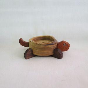 Handmade woodworking  turtle decoration candle holder - jabbugi