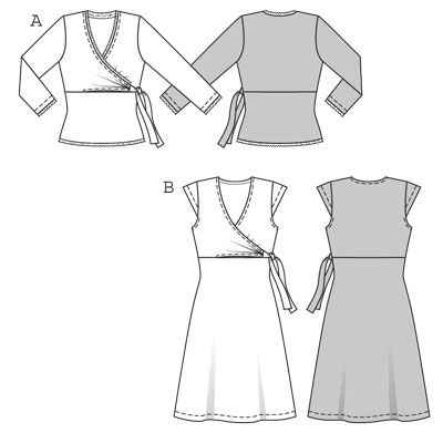 Burda's Faux Wrap Dress Pattern Link doesn't work.  I'm still looking for magazine date and pattern no.