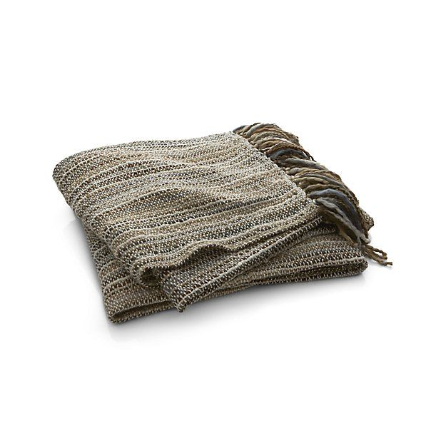 Shelby Natural Throw | Crate and Barrel