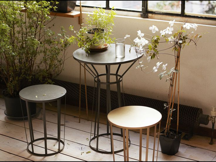 La Petite Friture Table And Stools From Platane