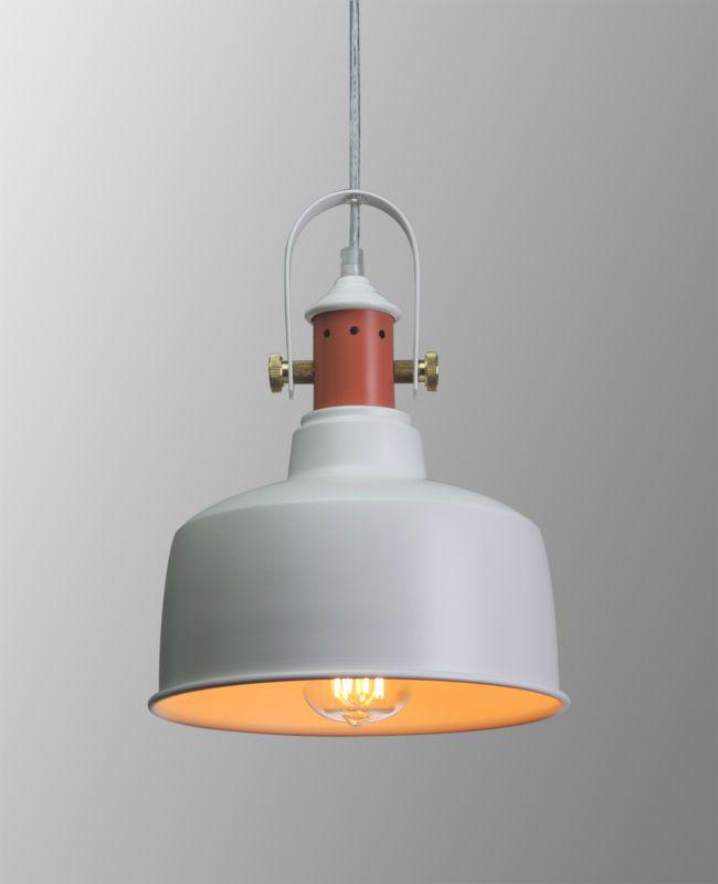 Industrial Pendant Light Ceiling Lamp Urban Enamel Shade White &BLACK Lighting
