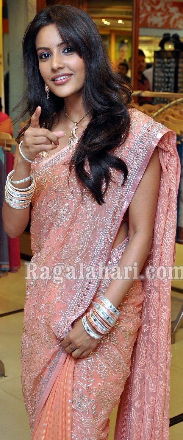 Regal Priya in a heavy sari.