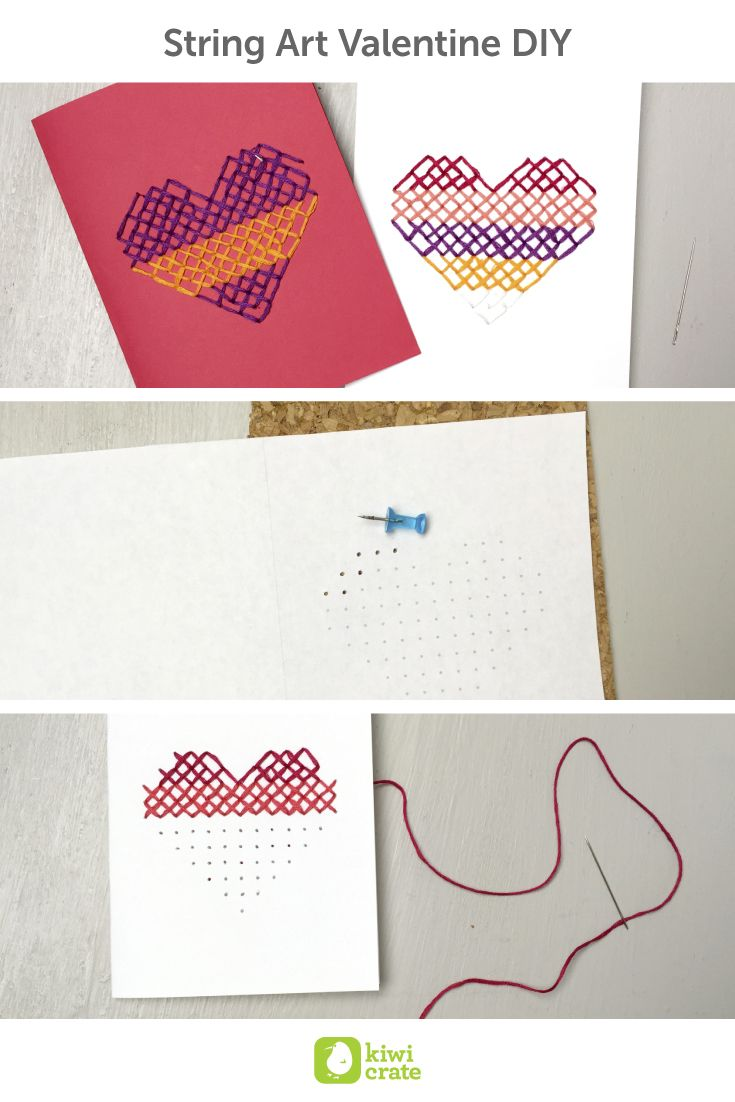 String Art Valentine DIY! I've always loved making homemade cards for my friends & family. What better way to show appreciation than a unique, handmade letter? Valentine's Day is one of my favorite holidays just for that reason! I can't wait to share this hand embroidered card with others.