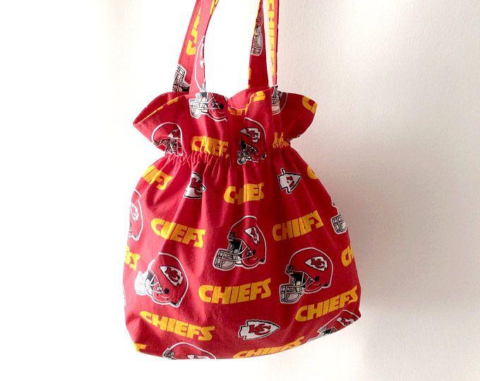 Kansas City Chiefs, tessuto di Kansas City, KC Tote Bag, Red Tote, Chiefs Fan regalo, capi borsa, borsa di Kansas City, capi Tote, KC Chiefs Tote