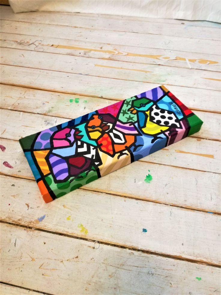 Birds Pop Art, Pop Art Painting, Pop Art, Birds  Painting, Birds Art, Neo Pop Art, Original Painting, Colorful Pop Art, Neo Pop Art by MevrouwHartman on Etsy