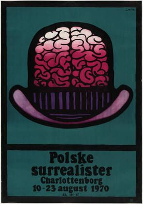 Polske Surrealister (Polish Surrealists)  Jan Lenica (Polish, 1928-2001)    1970. Offset lithograph