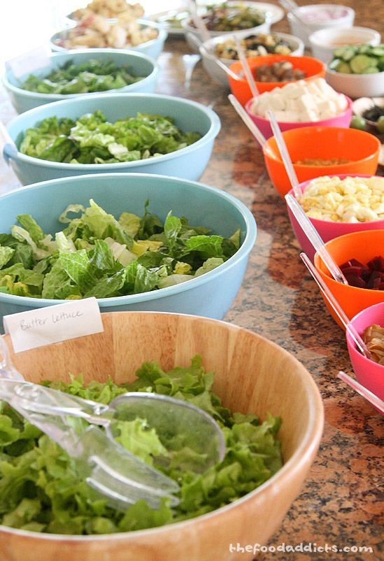 Easy solution to the menu: Salad bar party!!!!!