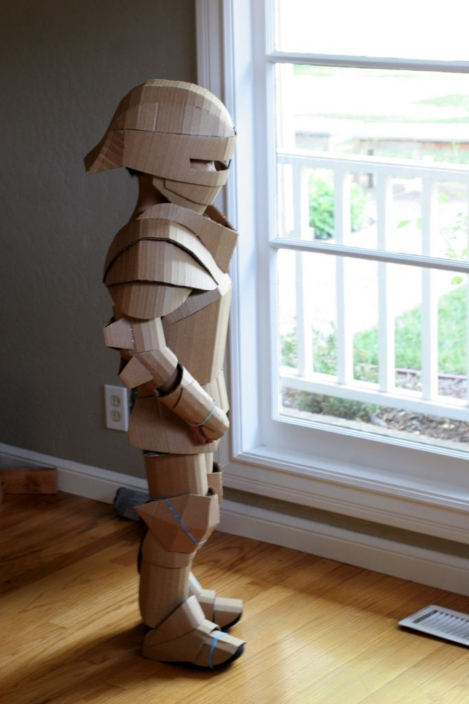 Knight costume, unpainted | by wrnking