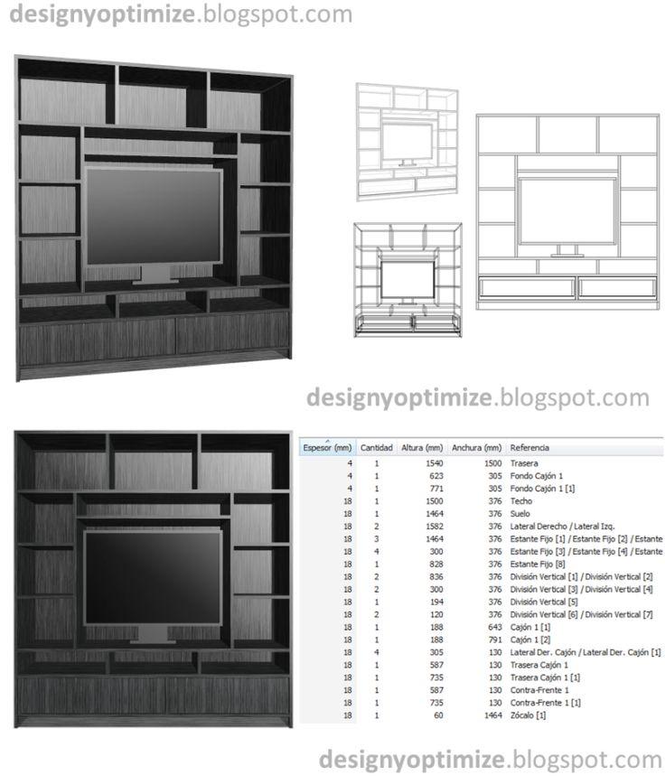 diseños de muebles: armarios, cocinas, bibliotecas, etc ... - Muebles De Diseno Para Tv