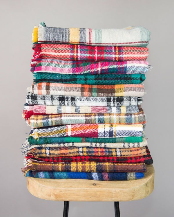 Berlin Plaid Blanket Scarves - Cents Of Style - 17