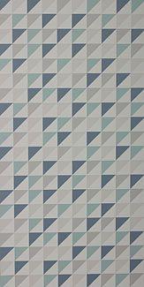 Papier peint Monza bleu blanc et gris