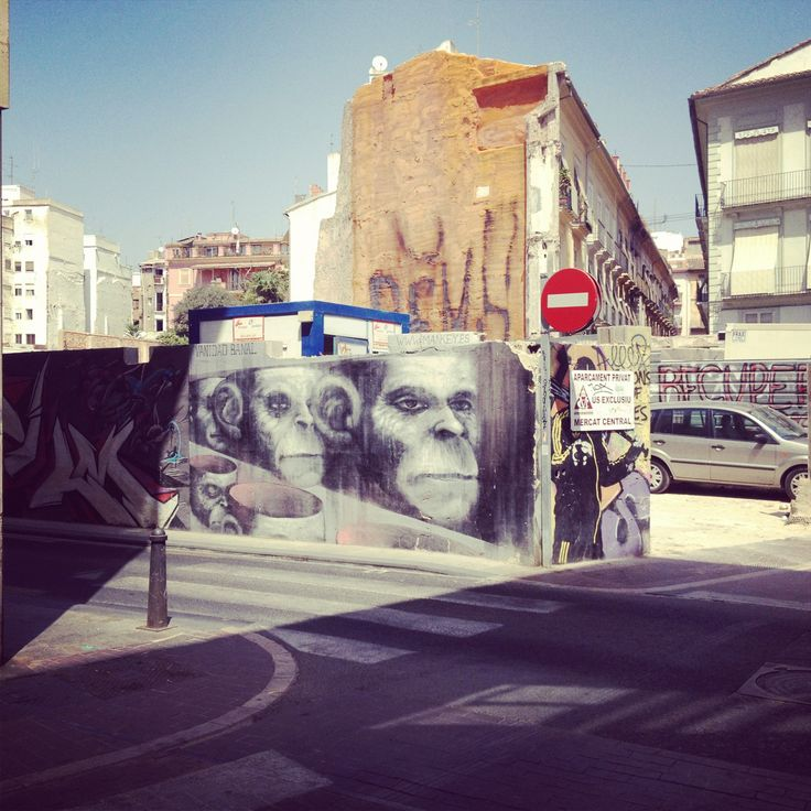 Valencia, street art. Graffiti on a wall