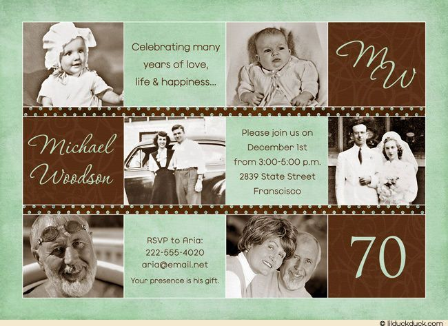 70 Year Wedding Anniversary Gifts: 25+ Best Ideas About 70th Birthday Invitations On