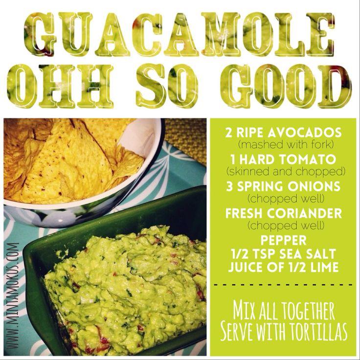Very easy and tummy friendly GUACAMOLE www.mintamokus.com