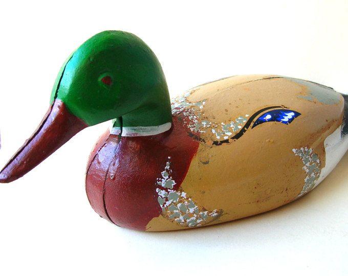 Canard en fonte leurre - canard métal papier poids - fonte canard - canard Vintage Figurine - décor de chasse - chasse - canard Statue