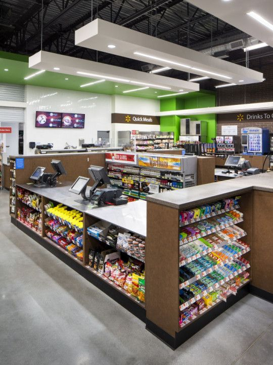 walmarts new convenience store prototype designed by api offers an untraditional