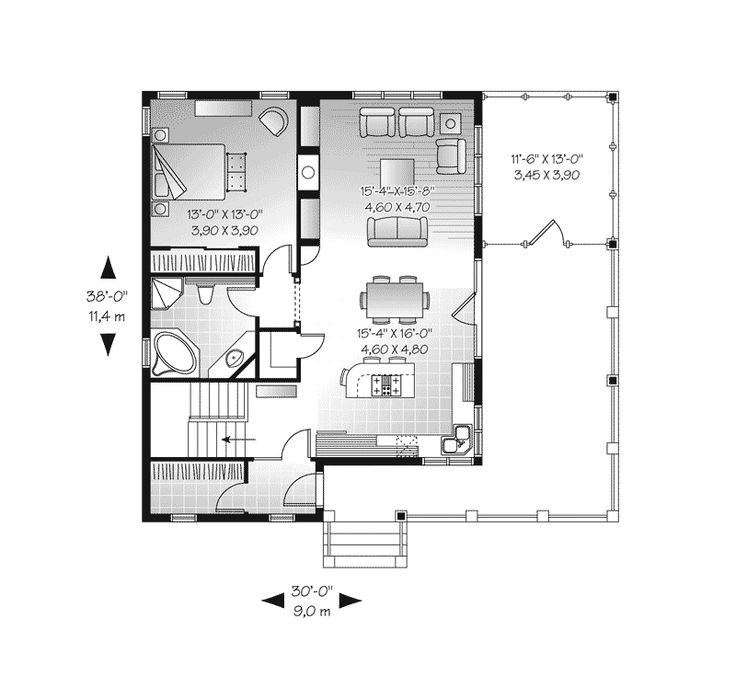 gissler gorgeous country home bungalow floor planscraftsman - Bungalow Floor Plans