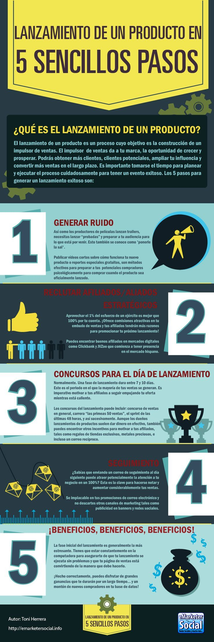 Infografía: Lanzar un Producto eMarketerSocial -eMarketerSocial What do you think of this guys? #infografias #infographic