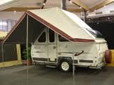 Awning on A Frame folding camping trailer
