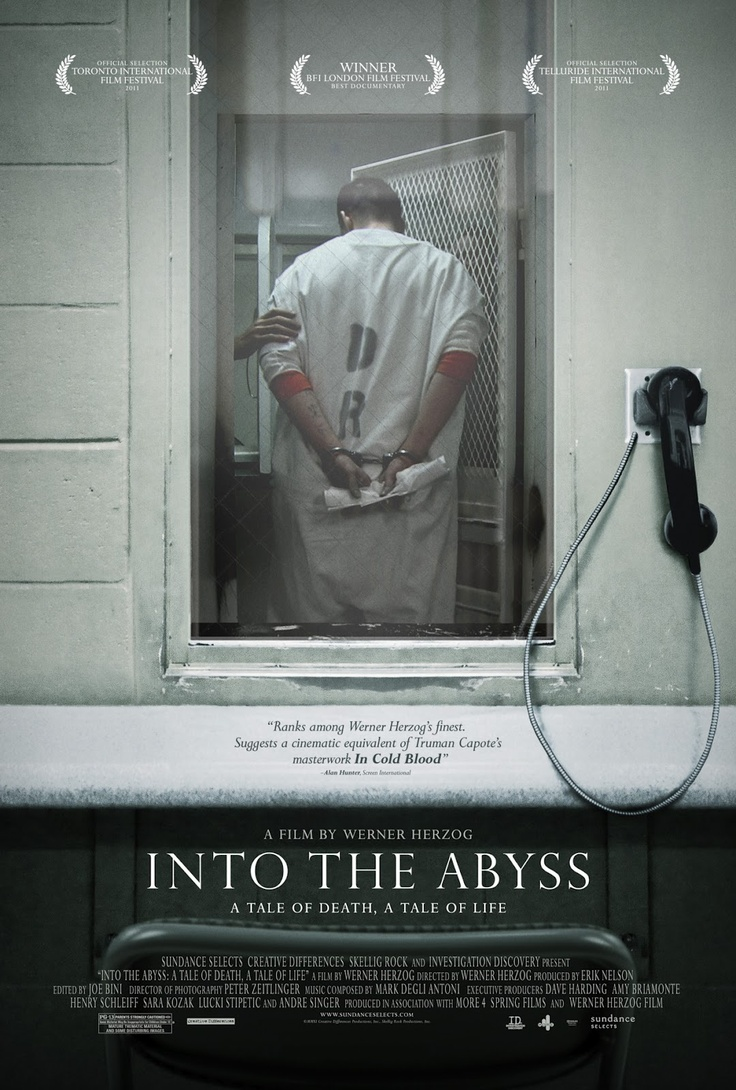 """""""Into the Abyss"""". Documentary on conversations with death row inmate Michael Perry and those affected by his crime serve as an examination of why people - and the state - kill."""