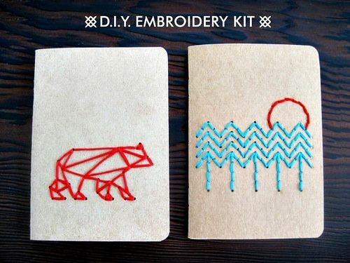 Embroidery Kit - Pocket Notebooks by all things paper, via Flickr