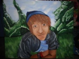 Portrait of Denim, 2012 (acrylic paint)