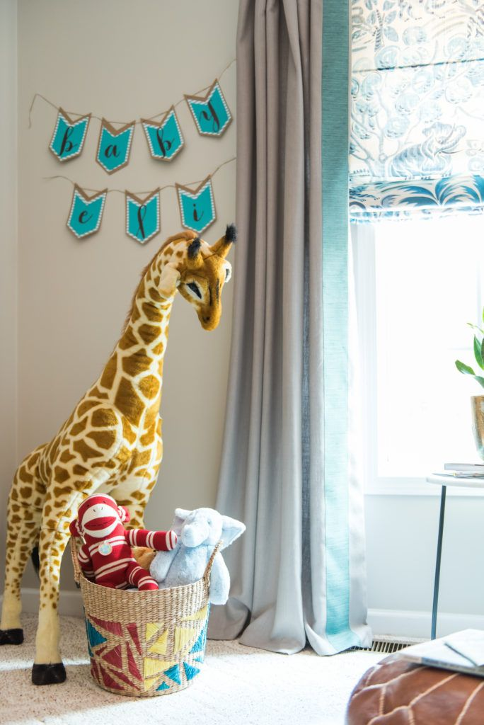 Project Nursery - Amanda Louise Interiors - Midcentury Nursery - Photo by Luke Cleland