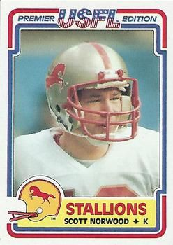 1984 Topps USFL #14 Scott Norwood Front