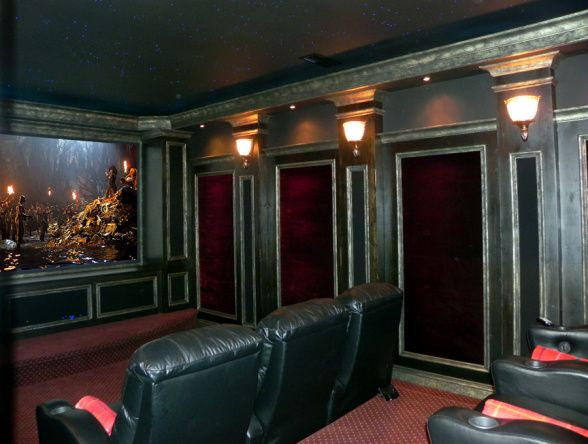 Home Theater Media Room Game Basement Diy