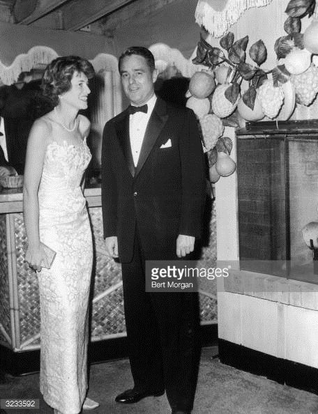 Eunice & husband Sargent Shriver, New Year's Eve, Coconuts, Palm Beach.