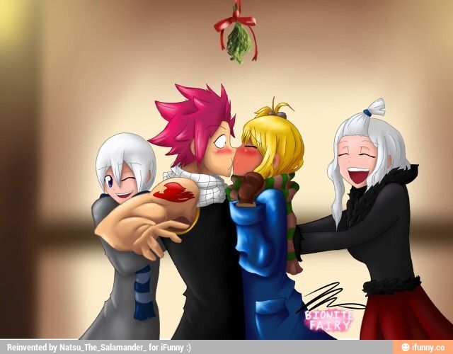 I love this pic because LISANNA IS PUSHING NATSU TOWARDS LUCY! OMG LISANNA SHIPS NALU!!!!