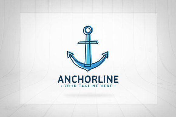 Anchor Line Logo by Seceme Shop on @creativemarket