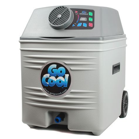 Go Cool provides all of the benefits of portable air conditioners, along with the mobility of low power requirement and no exhaust. This eco friendly design is simple to use. Fill with ice & water, pl