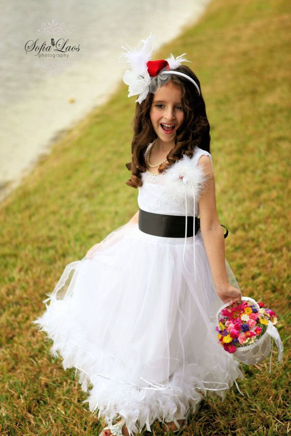 Lace  flower girl dress for a wedding.  by juliettaboutique