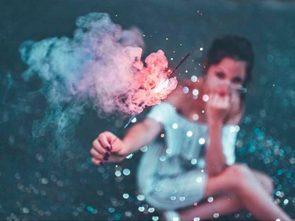 Smoke Photography, Girl Photography