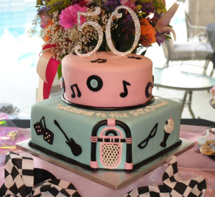 499 best 50 39 s cakes images on pinterest birthday cake for 50 s theme decoration ideas
