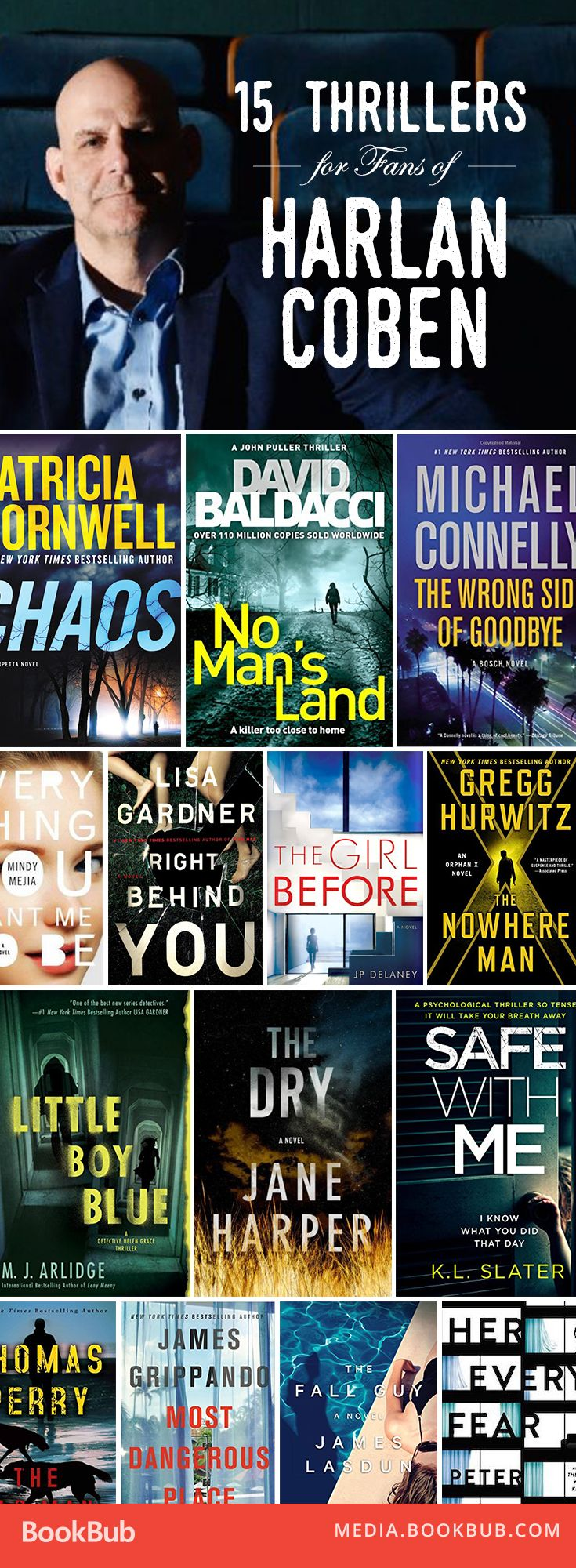 Calling all fans of Harlan Coben! Here are 15 gripping thrillers to read this year.