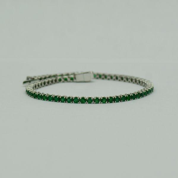 Bratara din aur alb cu smaralde #bratariauralb #bratarasmaralde #smaralde #emeraldbracelet #emeralds